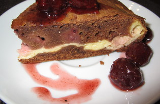 Шоколадный пирог с творогом и ягодами (пошаговый фото рецепт)