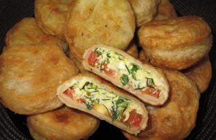 Жареные пирожки с творогом (пошаговый фото рецепт)