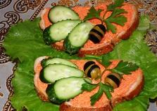 Бутерброды с икрой мойвы (пошаговый фото рецепт)