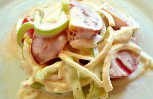 Салат с помидорами «Овощное трио» (пошаговый фото рецепт)