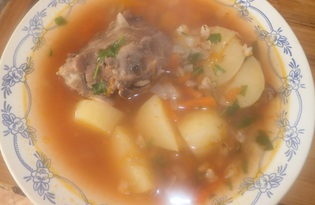 Суп харчо с перволой крупой (пошаговый фото рецепт)