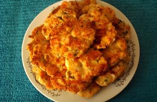 Куриные оладьи с сыром (пошаговый фото рецепт)