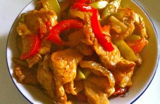 Овощное рагу с индейкой (пошаговый фото рецепт)