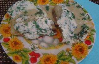 Блины с мясом под сметаной (пошаговый фото рецепт)