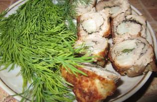 Свиные рулетики с овощами (пошаговый фото рецепт)