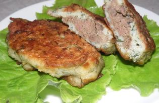 Картофельные зразы с печенью (пошаговый фото рецепт)