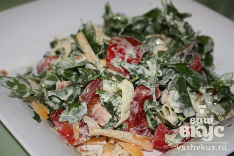 Салат с руколой рецепт с фото пошагово