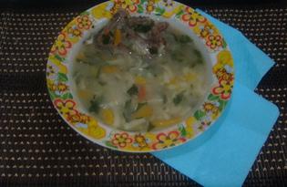 Суп на свиных косточках (пошаговый фото рецепт)