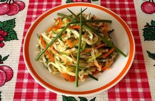 """Салат из капусты с огурцом и морковью """"Пёстрый"""" (пошаговый фото рецепт)"""