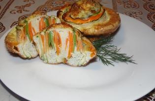 Овощной омлет в новом имидже (пошаговый фото рецепт)