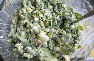 Салат из черемши с яйцами (пошаговый фото рецепт)
