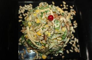 Мясной салат с сельдереем (пошаговый фото рецепт)