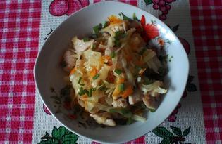 Куриное филе тушеное с овощами (пошаговый фото рецепт)