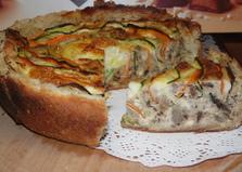 Овощной пирог с печенью (пошаговый фото рецепт)