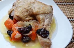 Курица с черносливом в мультиварке (пошаговый фото рецепт)