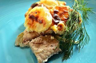 Свинина с картофелем под майонезом (пошаговый фото рецепт)