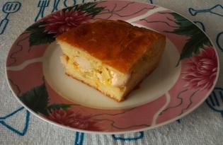 Пирог с курицей и капустой (пошаговый фото рецепт)