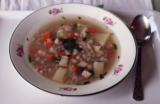 Суп с перловкой и сельдереем (пошаговый фото рецепт)