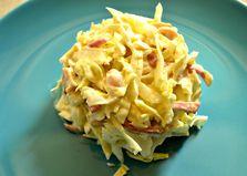Салат с капустой, фасолью и кальмаром (пошаговый фото рецепт)