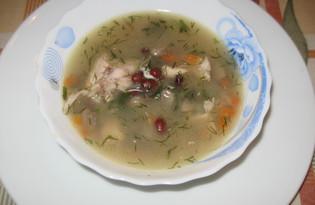 Суп с фасолью, курицей и грибами (пошаговый фото рецепт)