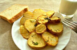 Картофель с петрушкой и молотым имбирем в духовке (пошаговый фото рецепт)