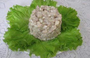 Салат из сардин, яблок и сельдерея (пошаговый фото рецепт)