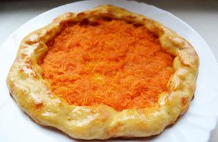 Открытый морковный пирог (пошаговый фото рецепт)