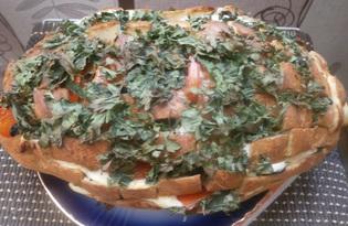 Закусочный батон с сыром (пошаговый фото рецепт)