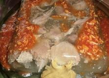 Холодец из свинины без желатина (пошаговый фото рецепт)