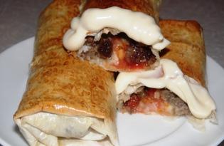 Пирожки из лаваша (пошаговый фото рецепт)
