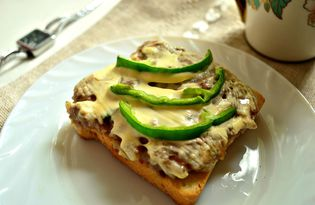 Горячие бутерброды с фаршем (пошаговый фото рецепт)