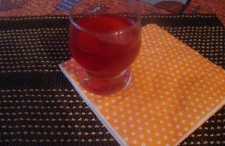 Вишнево - яблочный компот (пошаговый фото рецепт)