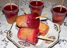 Мороженое фруктовый лед с персиком и вишневым соком (пошаговый фото рецепт)
