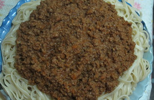 Соус Болоньезе (упрощенный вариант) (пошаговый фото рецепт)