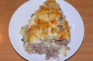 Картофельно - мясная запеканка (пошаговый фото рецепт)