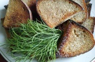Гренки с чесноком из ржаного хлеба (пошаговый фото рецепт)