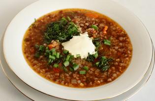Гречневый суп на курином бульоне (пошаговый фото рецепт)