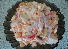 """Салат с куриным филе и кукурузой """"Мирабель"""" (пошаговый фото рецепт)"""