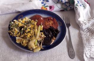 Яичница с овощами гриль (пошаговый фото рецепт)