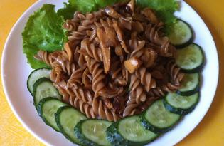 Теплый салат с грибами (пошаговый фото рецепт)