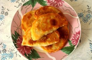 Жареные пирожки с зелёным луком и яйцами (пошаговый фото рецепт)