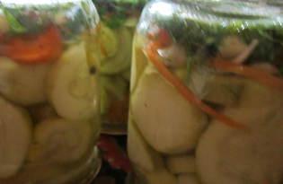 Кабачки с морковью на зиму (пошаговый фото рецепт)