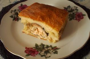 Закрытый пирог с речной рыбой (пошаговый фото рецепт)