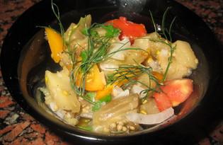 Салат из запеченного баклажана с помидорами (пошаговый фото рецепт)