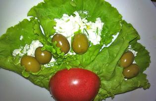 Творожный салат (пошаговый фото рецепт)