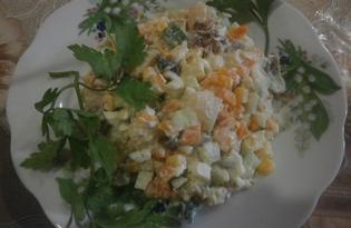 Салат из говядины и свежего огурца (пошаговый фото рецепт)
