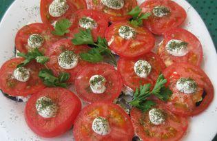 Баклажаны с чесноком и зеленью (пошаговый фото рецепт)
