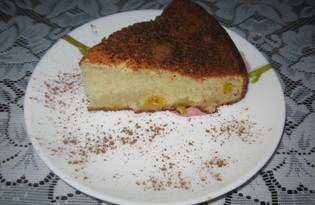 Творожный кекс с персиками (пошаговый фото рецепт)