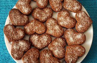 Простое шоколадное печенье (пошаговый фото рецепт)