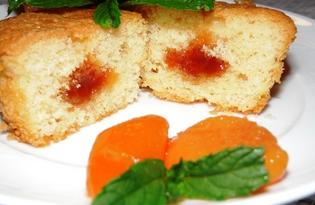 Кексы с абрикосовым джемом (пошаговый фото рецепт)